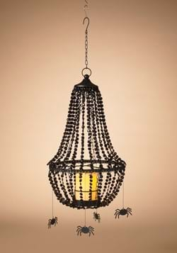 25 Black Chandelier w Spiders Candle Remote