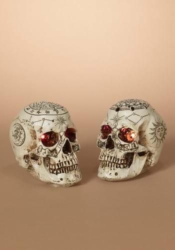 6 Inch Lighted Celestial Skulls