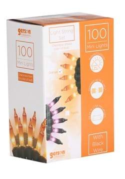 100 UL Orange Indoor and Outdoor Light Set