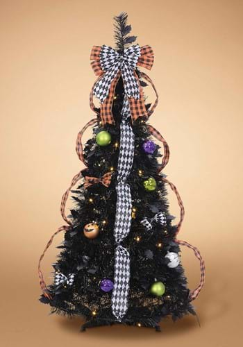 4' Pop-Up LED Decorated Halloween Tree