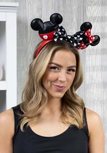 Loungefly Disney Mickey and Minnie Hearts Headband