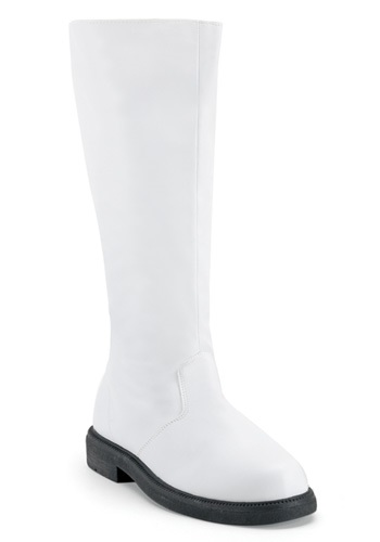 Adult White Costume Boots By: Pleasers USA, Inc. for the 2015 Costume season.