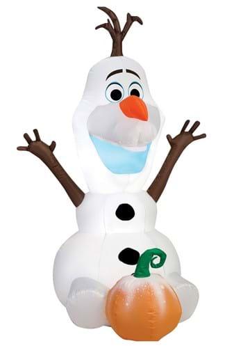 "48"" Airblown Sitting Olaf with Pumpkin"