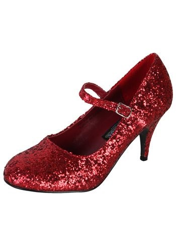 Sexy Red Glitter Shoes