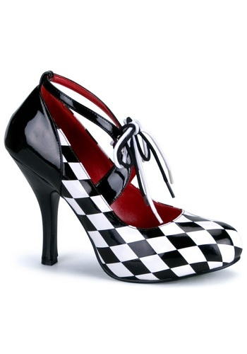 Womens Harlequin Shoes - Sexy Harlequin Clown Costume Accessories