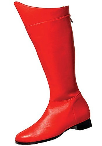 Adult Superhero Boots - Red Superman Costume Boots