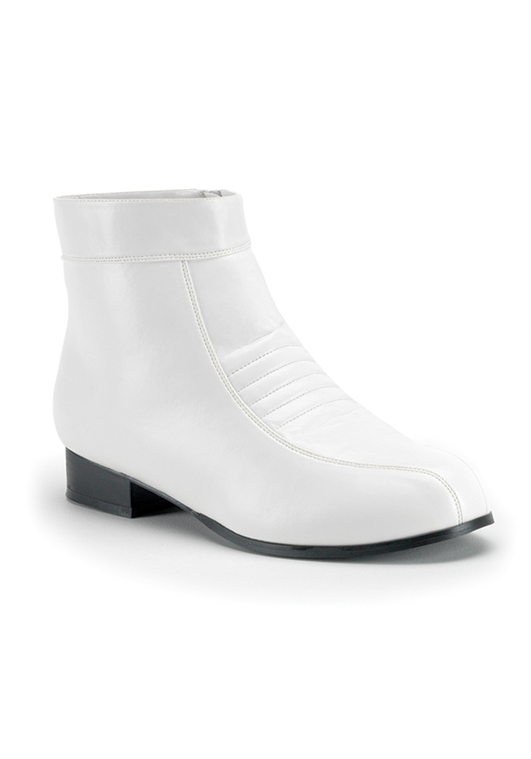 White Lace Up Shoe Boot