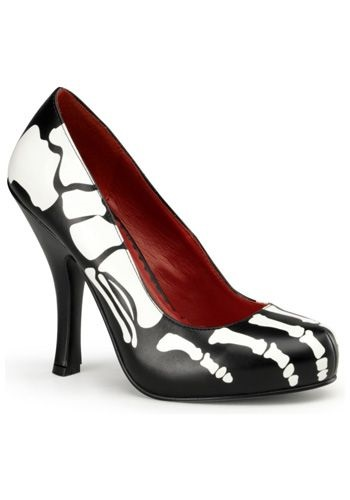 Click Here to buy Skeleton High Heels from HalloweenCostumes, USA Funds & Shipping
