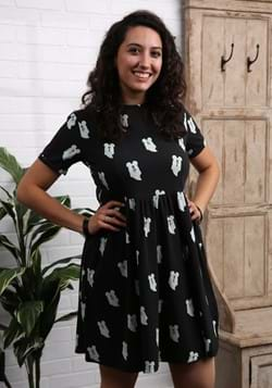 MICKEY GHOST BUTTON UP DRESS-0