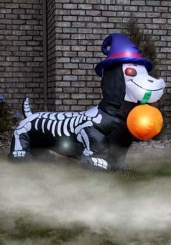 Inflatable 5 Ft Weiner Dog Skeleton
