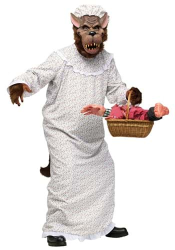 Men's Big Bad Granny Wolf Plus Size Costume upd