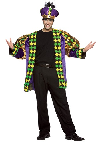 Adult Mardi Gras King Costume - Mardi Gras Carnival Costume Ideas