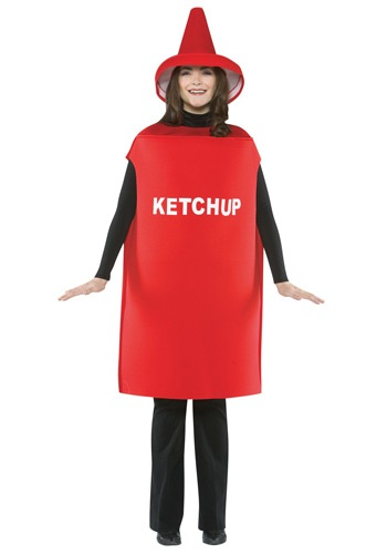 adult ketchup costume Funny Costumes for Halloween