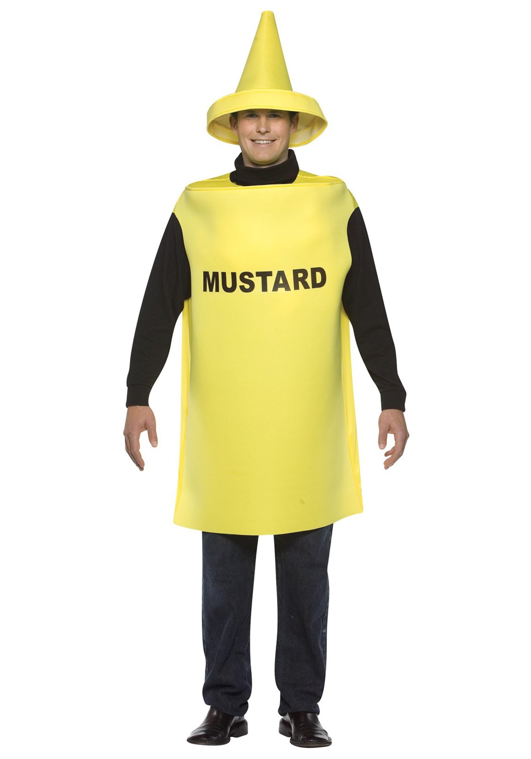adult mustard costume. Black Bedroom Furniture Sets. Home Design Ideas