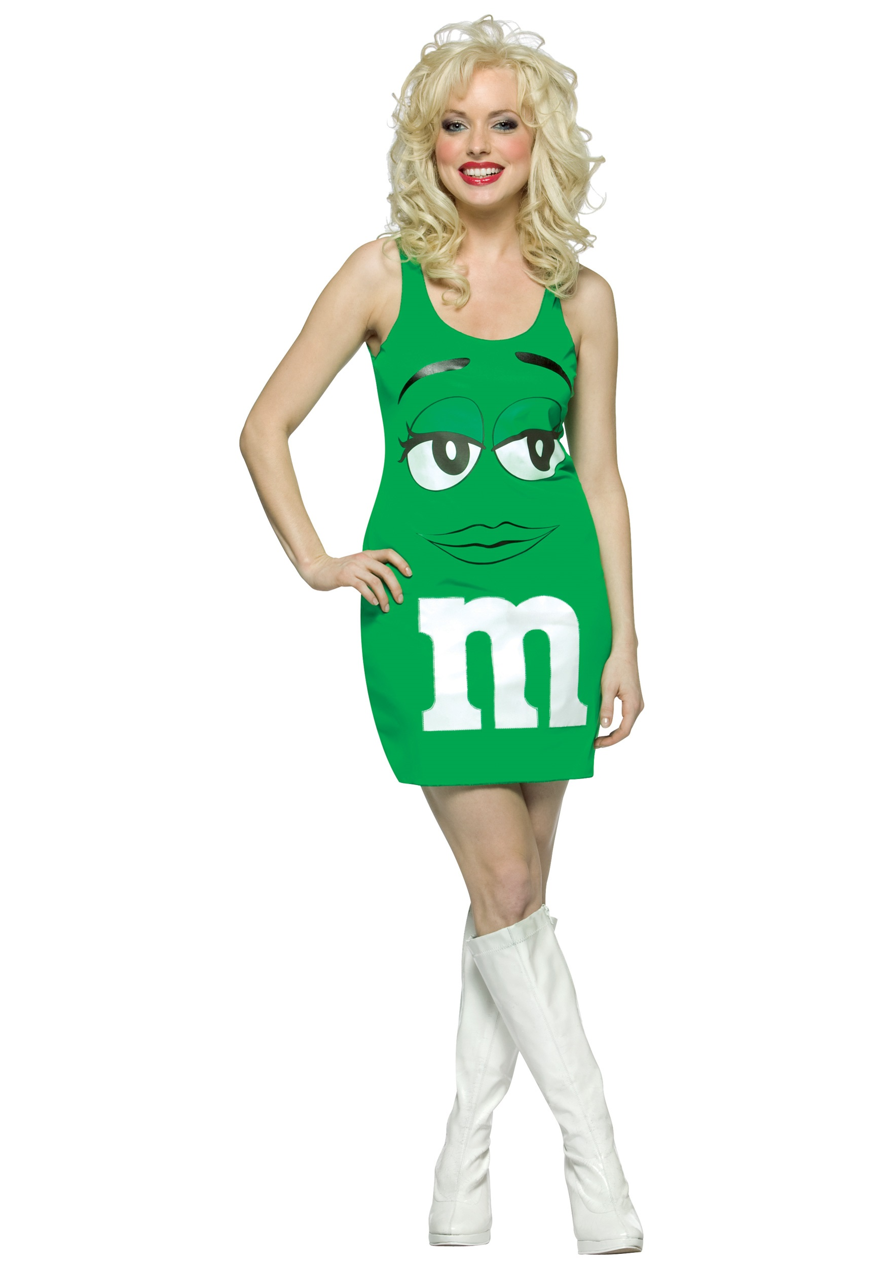 womens green mm costume - Green Halloween Dress