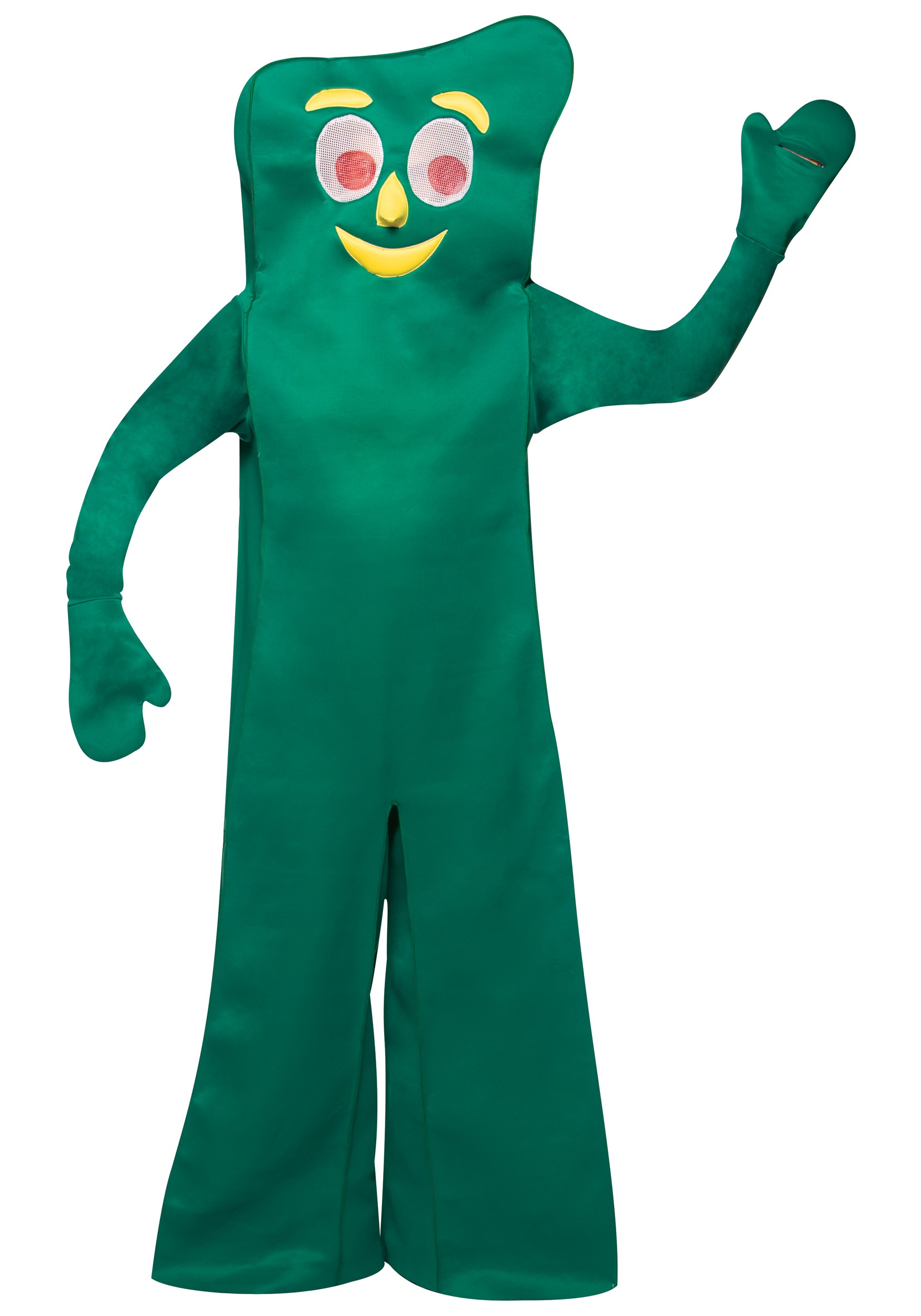 A Cartoon Character That Is Green : Adult gumby costume