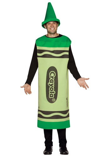 Adult Green Crayon Costume By: Rasta Imposta for the 2015 Costume season.