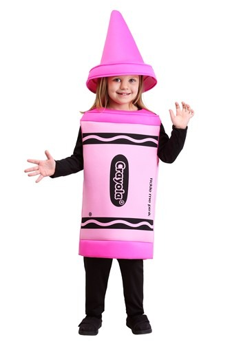 toddler pink crayon costume - Crayola Halloween 2
