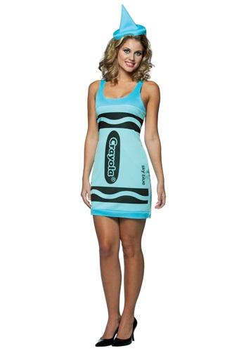 Sexy Sky Blue Crayon Dress Costume