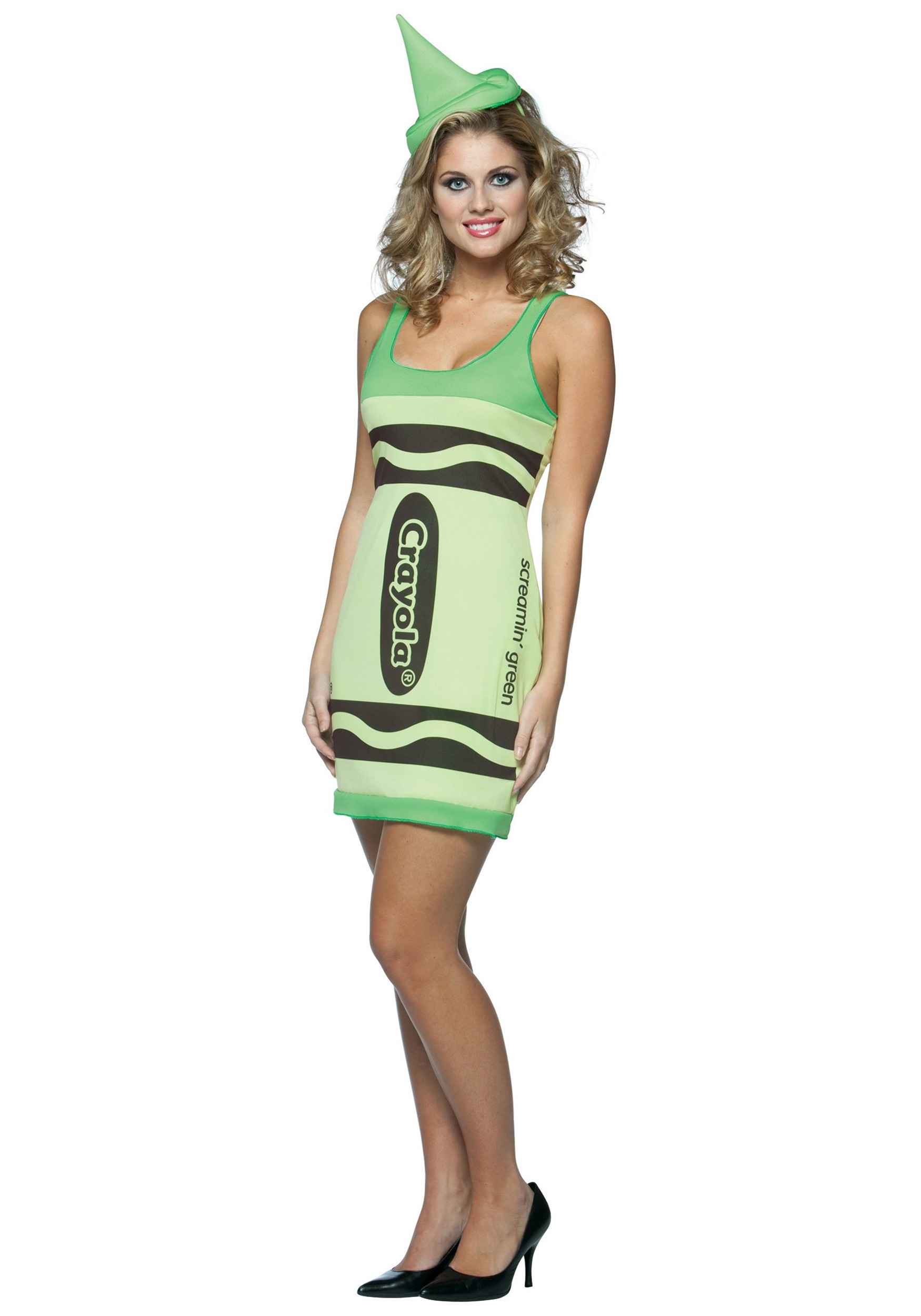sc 1 st  Halloween Costumes & Sexy Screaminu0027 Green Crayon Dress