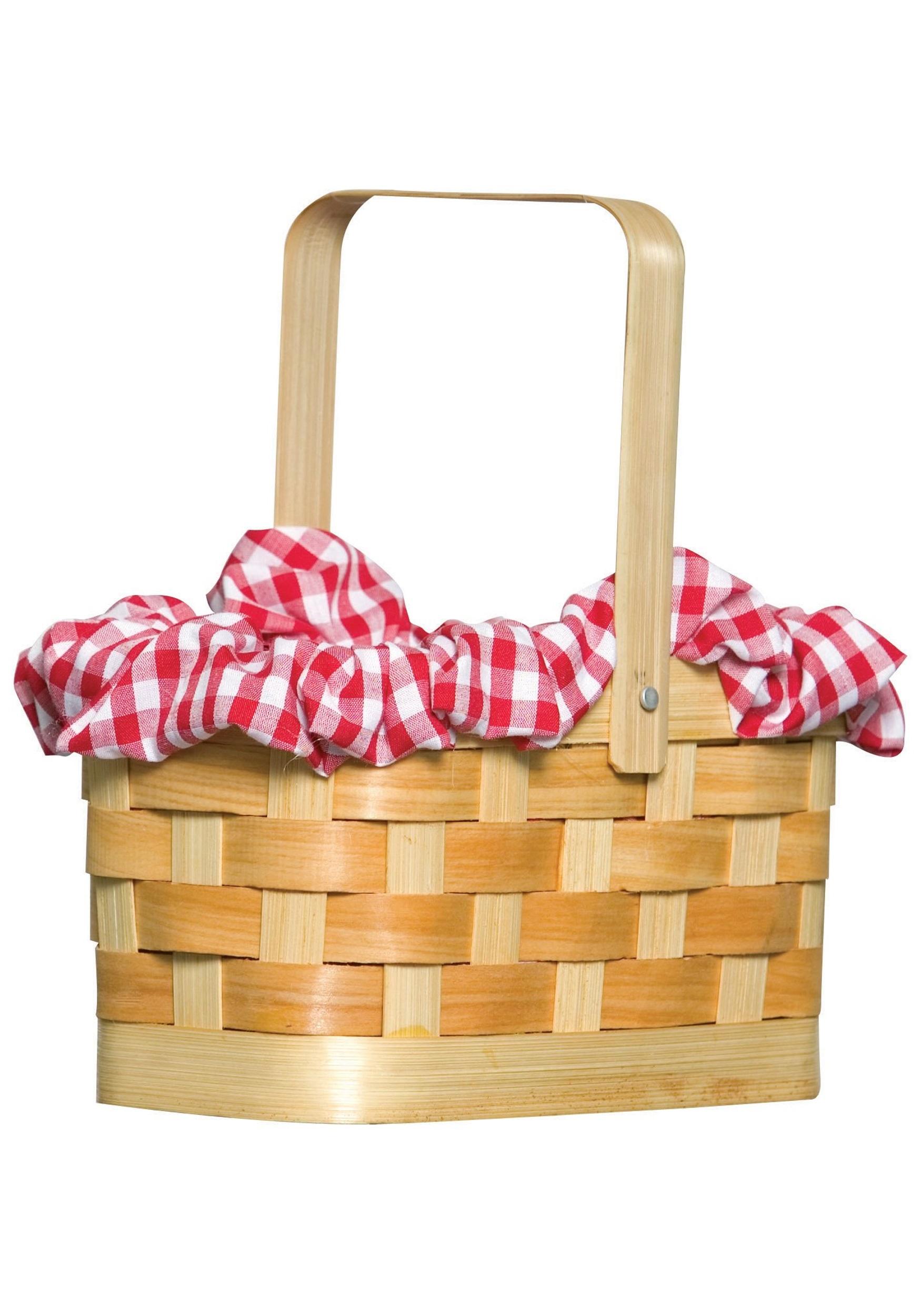 Gingham Basket Handbag