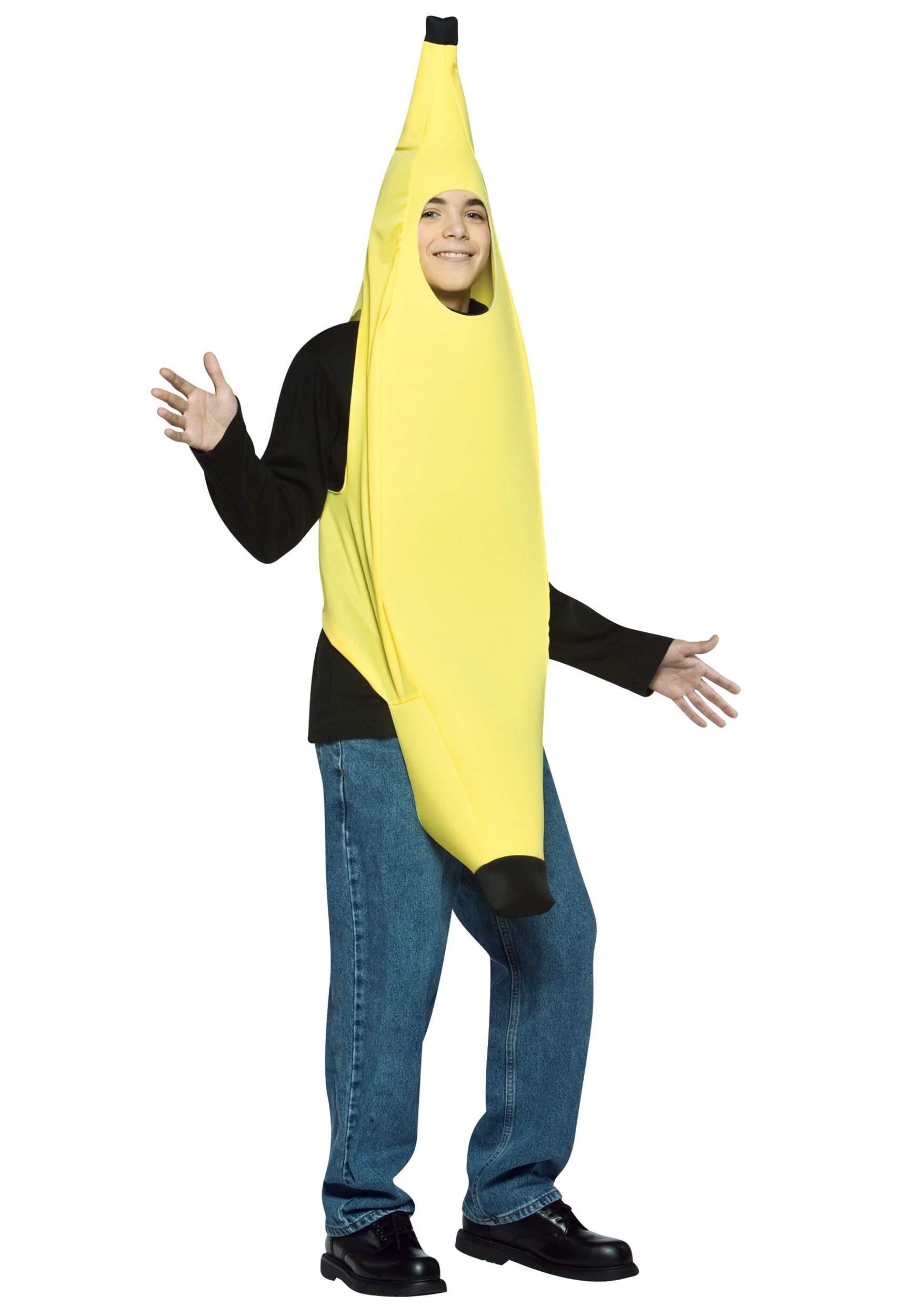 Teen Banana Costume  sc 1 st  Halloween Costumes & Teen Banana Costume - Funny Halloween Costumes for Teens