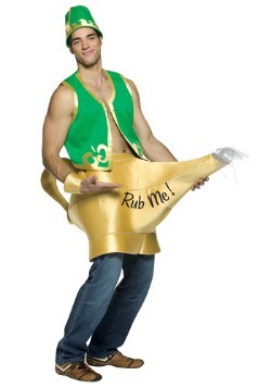 Well-Endowed Genie and Lamp Mens Costume