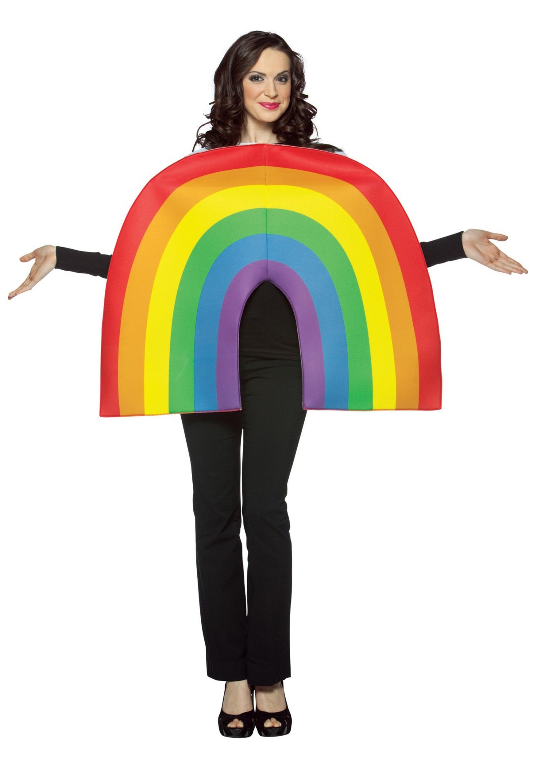 adult rainbow costume. Black Bedroom Furniture Sets. Home Design Ideas