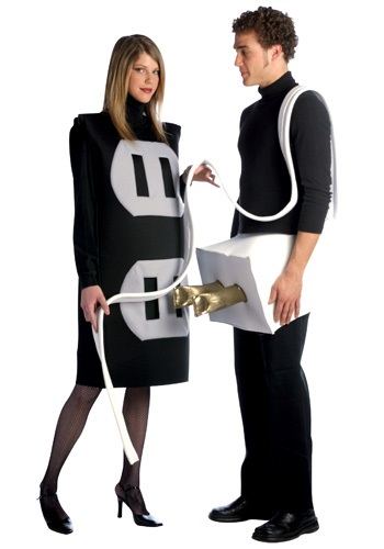 Click Here to buy Plug and Socket Costume - Funny Couples Costume Ideas from HalloweenCostumes, USA Funds & Shipping