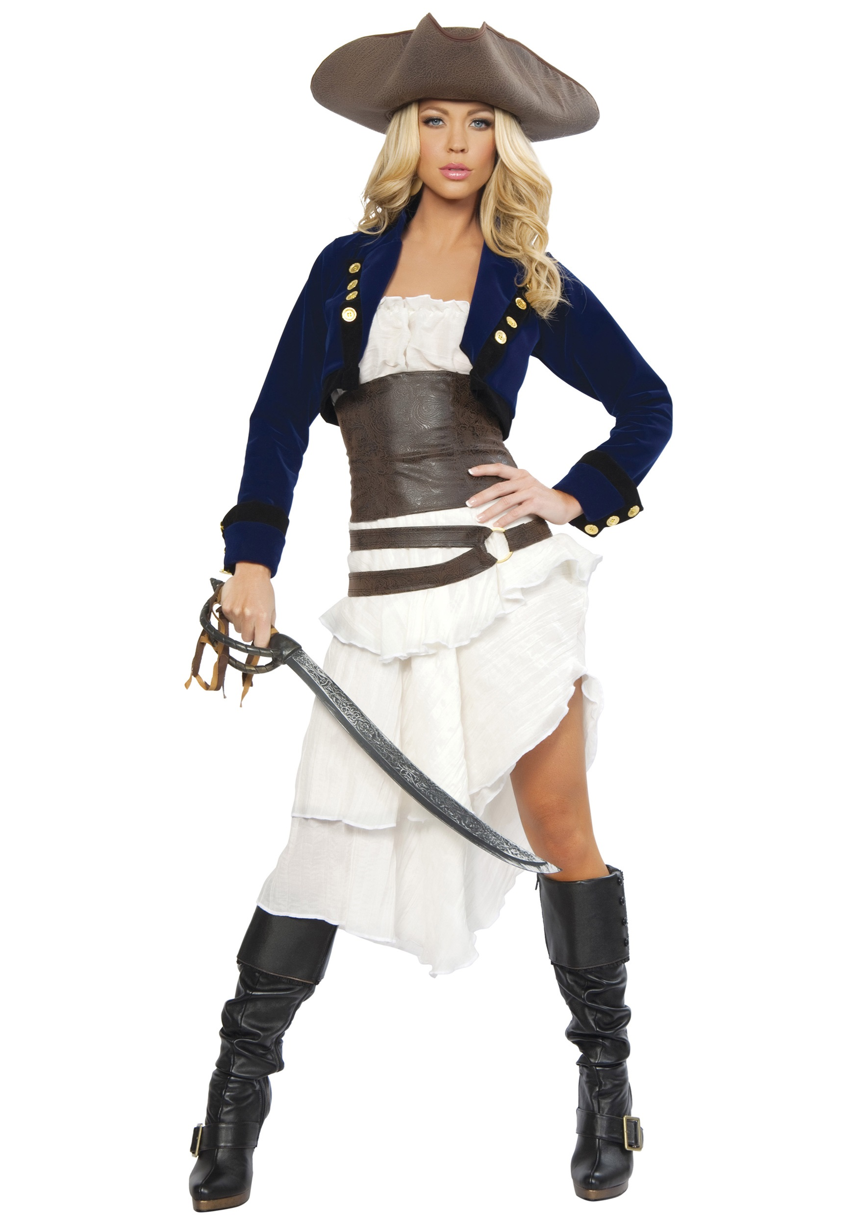 deluxe colonial pirate costume - Pirate Halloween Costumes Women