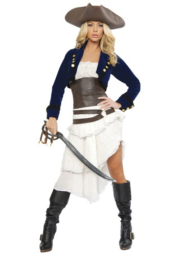 Click Here to buy Deluxe Colonial Pirate Costume from HalloweenCostumes, USA Funds & Shipping