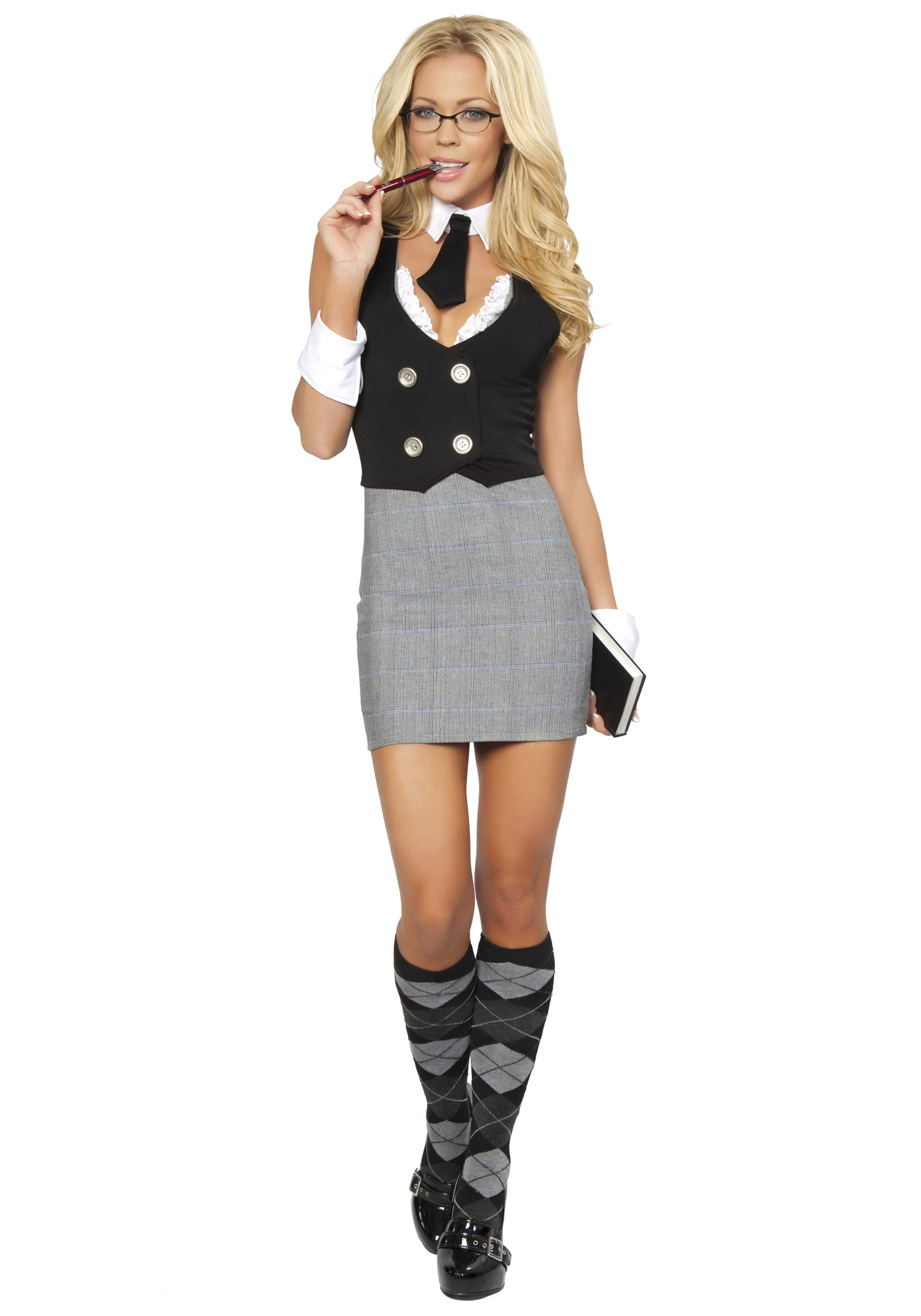 Sexy School Teacher Costume-2554