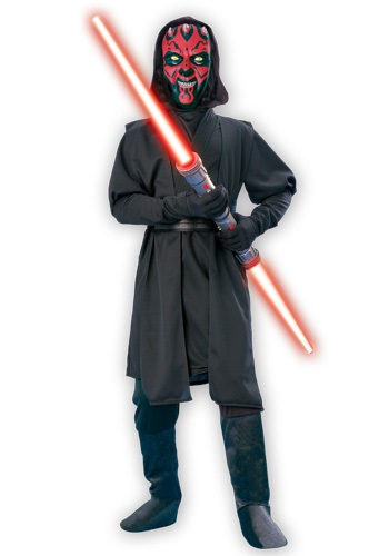 Click Here to buy Kids Darth Maul Deluxe Costume from HalloweenCostumes, CDN Funds