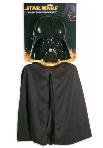 Click Here to buy Kids Darth Vader Mask and Cape from HalloweenCostumes, CDN Funds
