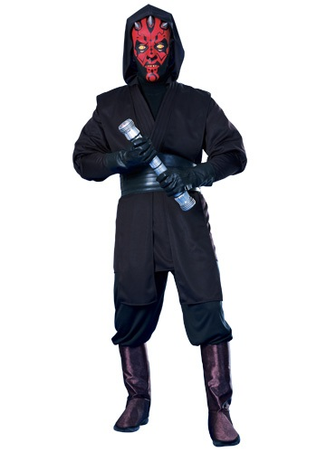 Click Here to buy Deluxe Darth Maul Costume from HalloweenCostumes, USA Funds & Shipping