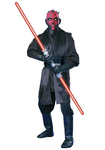 Super Deluxe Adult Darth Maul Costume By: Rubies Costume Co. Inc for the 2015 Costume season.
