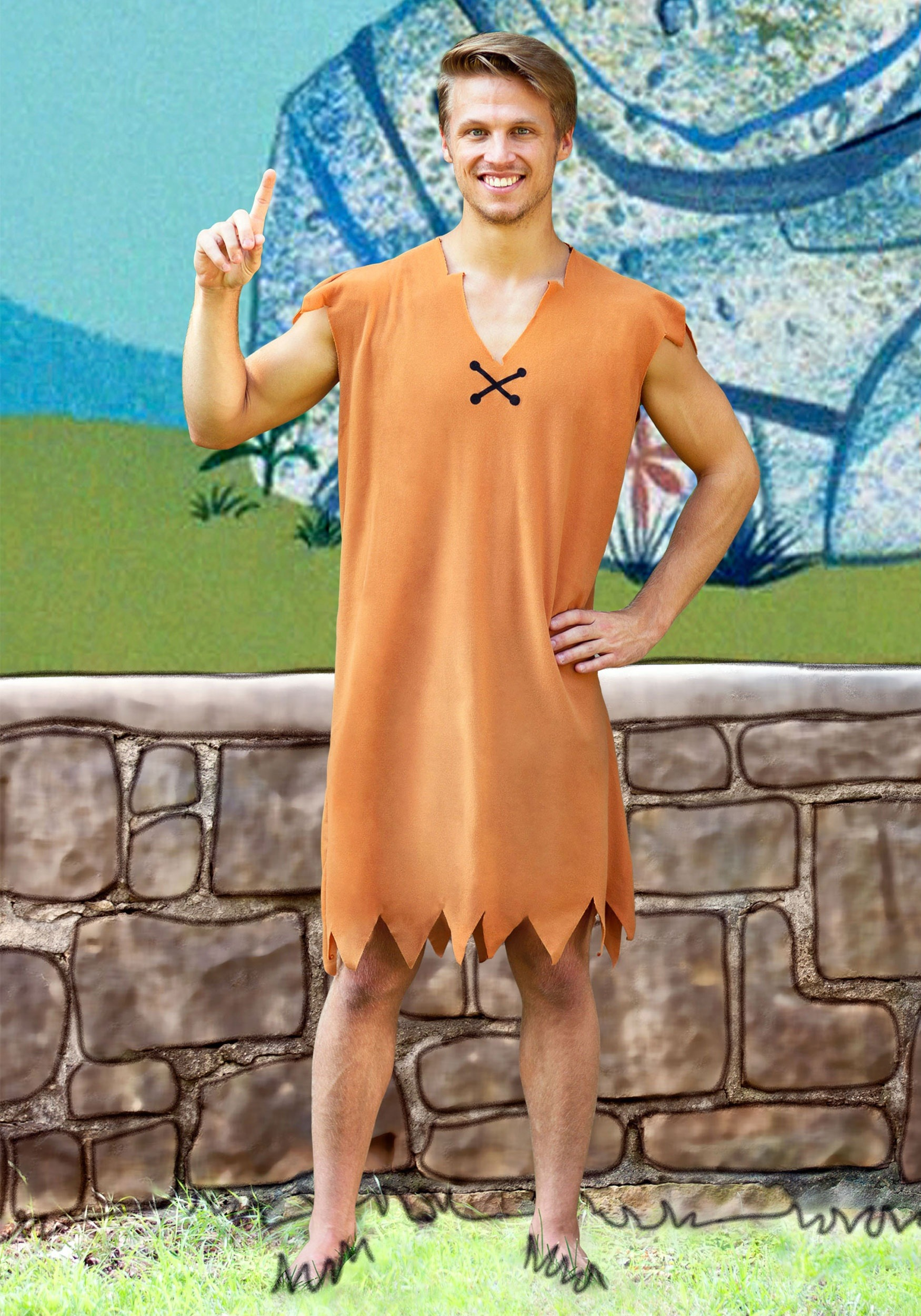 Barney Rubble Adult Costume  sc 1 st  Halloween Costumes : fred flintstone costume  - Germanpascual.Com