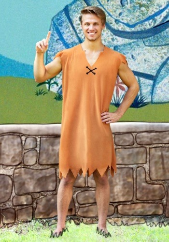Barney Rubble Adult Costume - Adult Flintstones Costumes