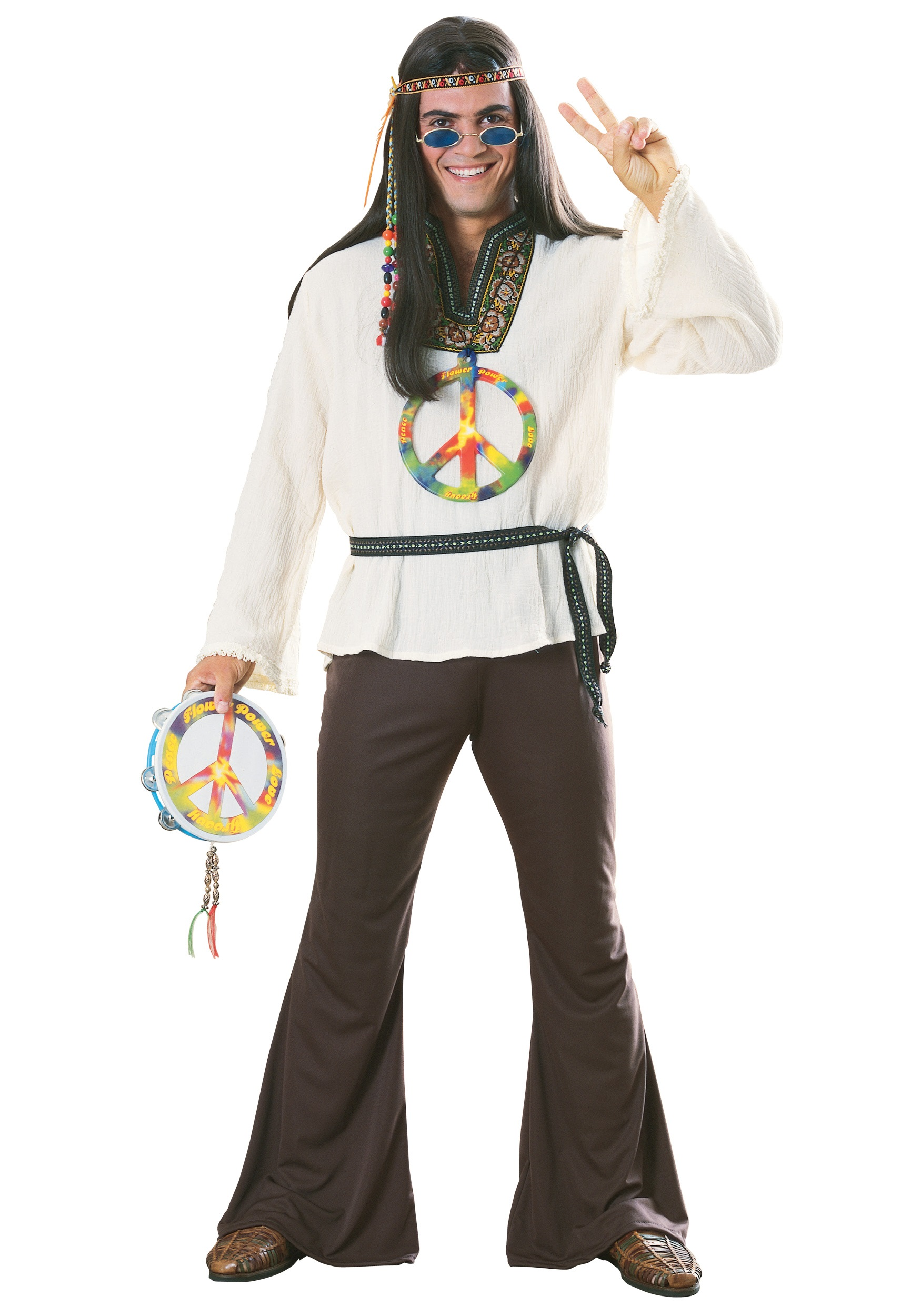 sc 1 st  Halloween Costumes & Adult Groovy Hippie Costume