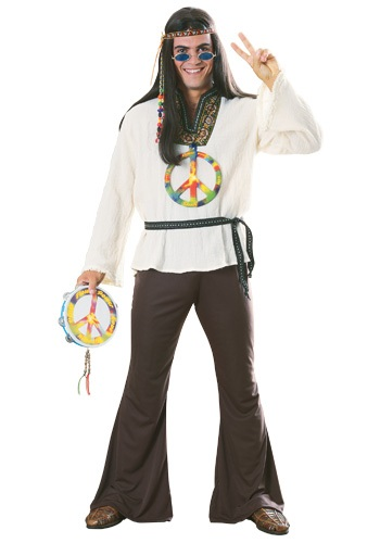 Click Here to buy Adult Groovy Hippie Costume from HalloweenCostumes, USA Funds & Shipping