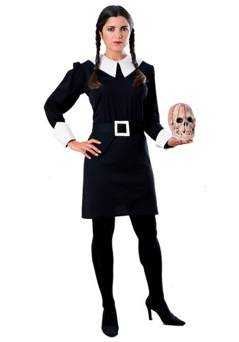 Adult Wednesday Addams Costume - Addams Family Halloween Costumes By: Rubies Costume Co. Inc for the 2015 Costume season.