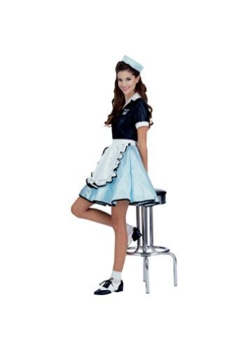 Click Here to buy Womens Car Hop Girl Costume - 1950s Car Hop Girl Costume Ideas from HalloweenCostumes, CDN Funds