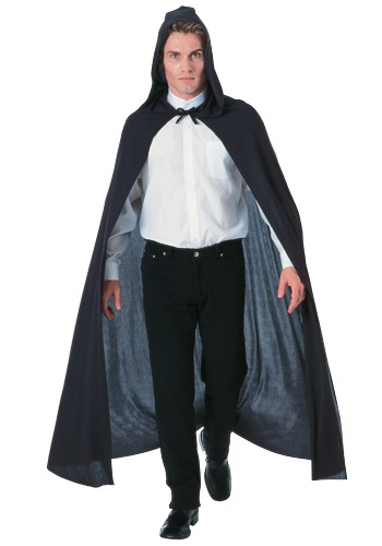 Black Hooded Cape - $19.99