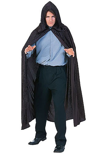 Black Velvet Hooded Cloak By: Rubies Costume Co. Inc for the 2015 Costume season.
