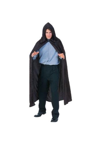 Black Velvet Hooded Cloak - $14.99