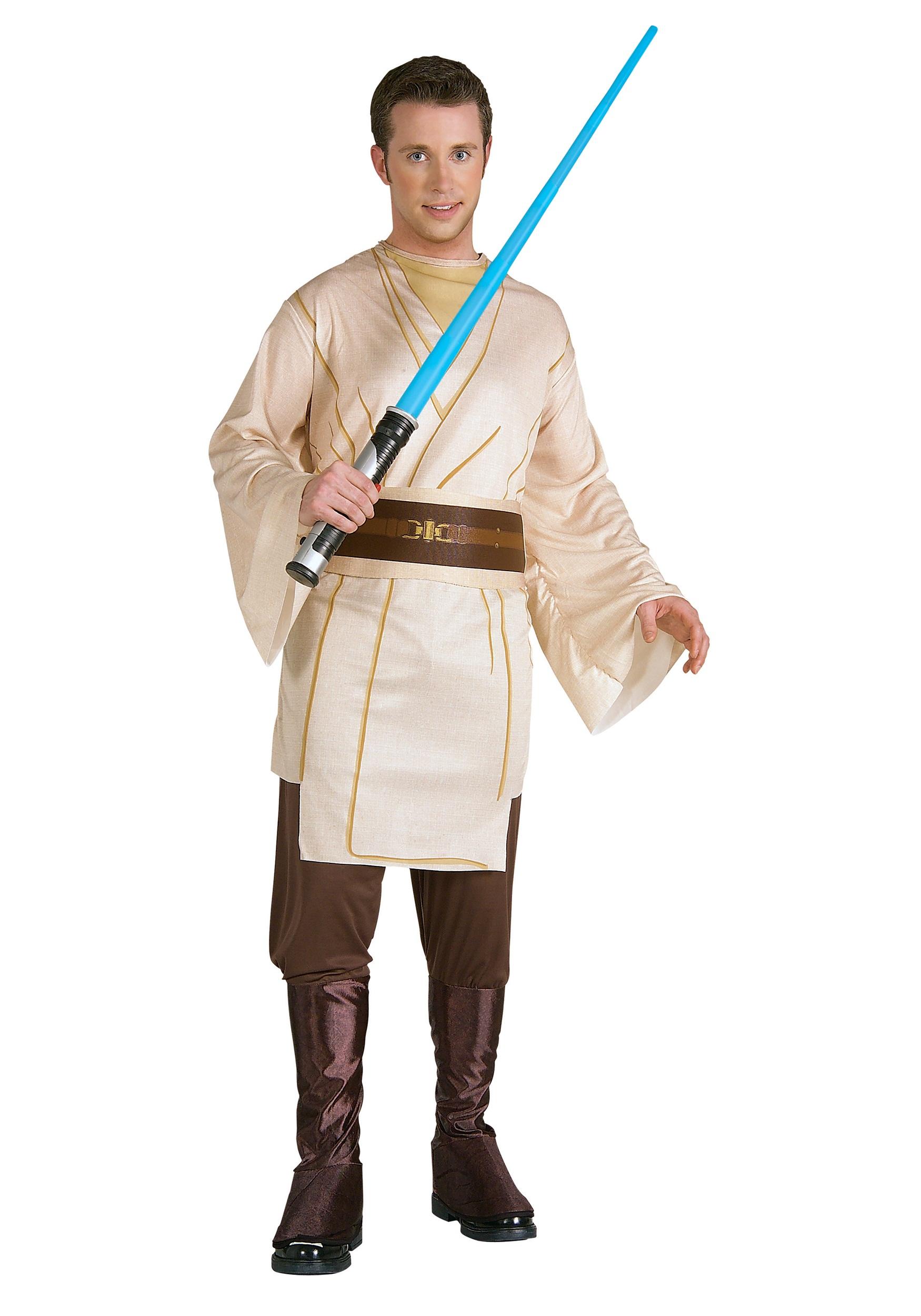 Qui-Gon Jinn Costume  sc 1 st  Halloween Costumes & Adult Jedi Costume