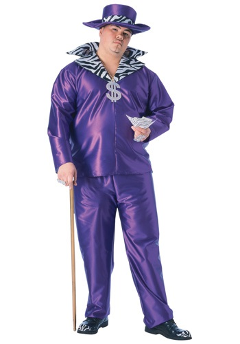 Click Here to buy Big Daddy Pimp Plus Size Costume 1X from HalloweenCostumes, CDN Funds