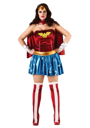Click Here to buy Wonder Woman Plus Size Costume from HalloweenCostumes, USA Funds & Shipping