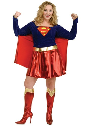 Adult Plus Size Supergirl Costume By: Rubies Costume Co. Inc for the 2015 Costume season.