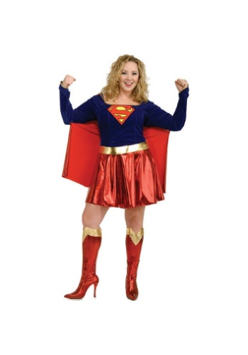 Click Here to buy Plus Size Adult Supergirl Costume from HalloweenCostumes, CDN Funds